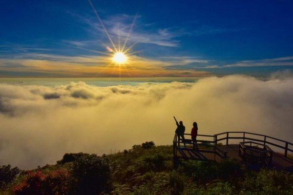 Popular mountains destination